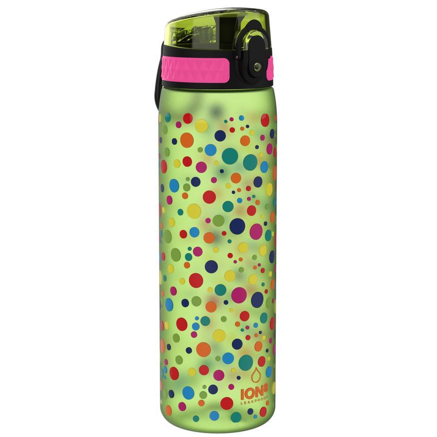 ion8, auslaufsichere Trinkflasche, schlank, punktemuster, 500 ml