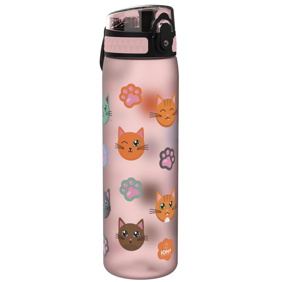 ion8 , botella a prueba de fugas, slim, gatos, 500 ml