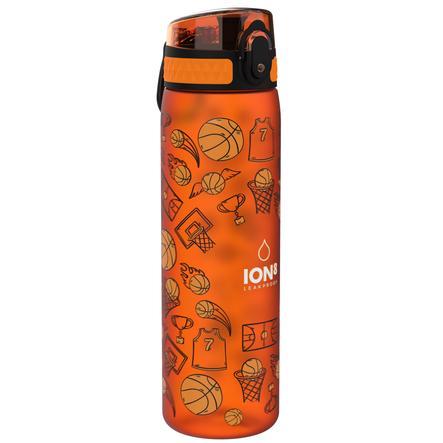 ion8, auslaufsichere Trinkflasche, schlank, basketball, 500 ml