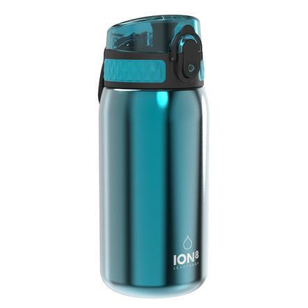 ion8, auslaufsichere Trinkflasche, edelstahl, blau, 400 ml