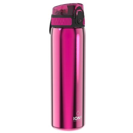 ion8, auslaufsichere Trinkflasche, edelstahl, pink, 600 ml