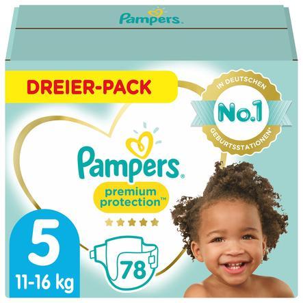 Pampers Premium Protection Größe 5, 78 Windeln, 11kg-16kg