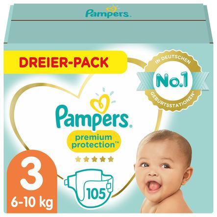 Pampers Premium Protection Größe 3, 105 Windeln, 6kg-10kg