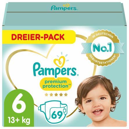 Pampers Premium Protection Größe 6, 69 Windeln, 13kg+