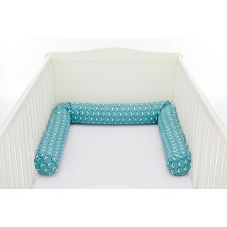 fillikid  luxusní postel červík 190 cm birds petrol