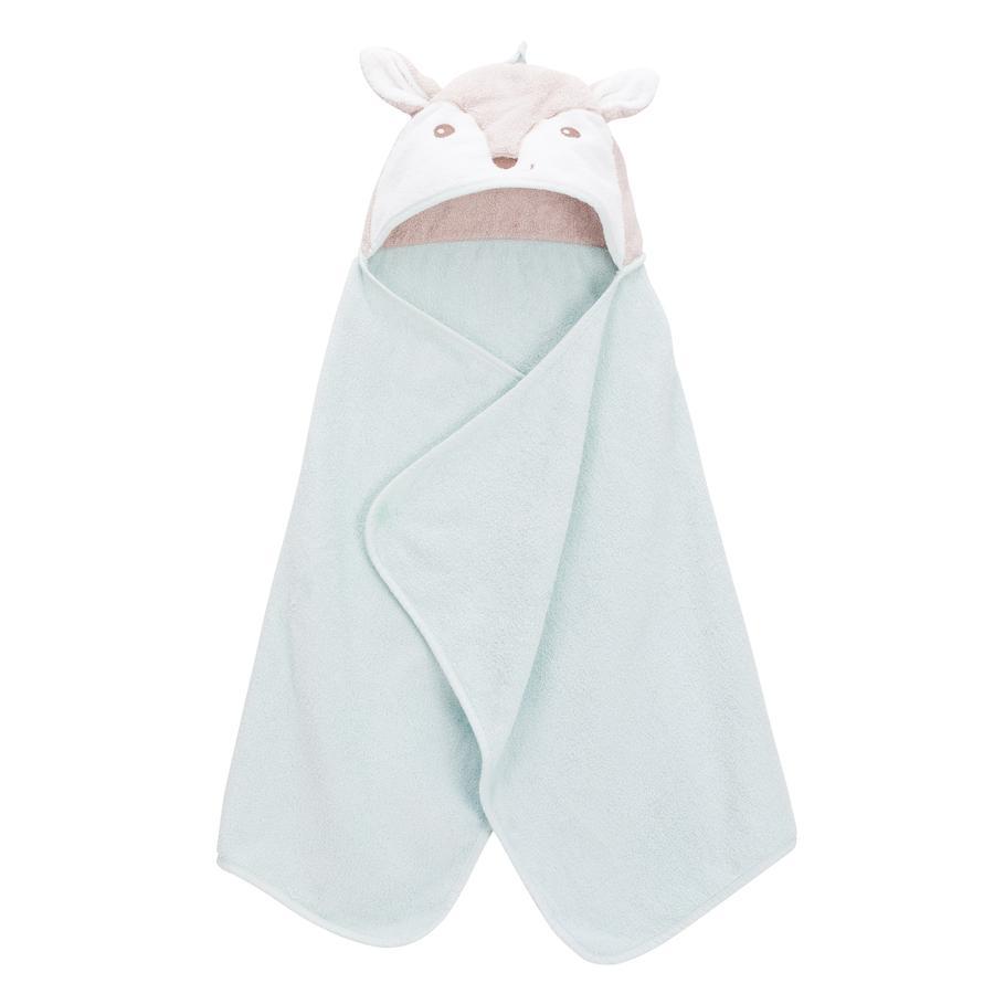 fillikid  Asciugamano da bagno con cappuccio fox mint 65 x 125 cm