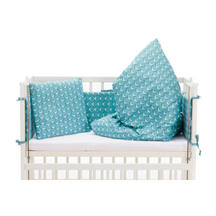 fillikid  luxe bedset Cocon birds petrol