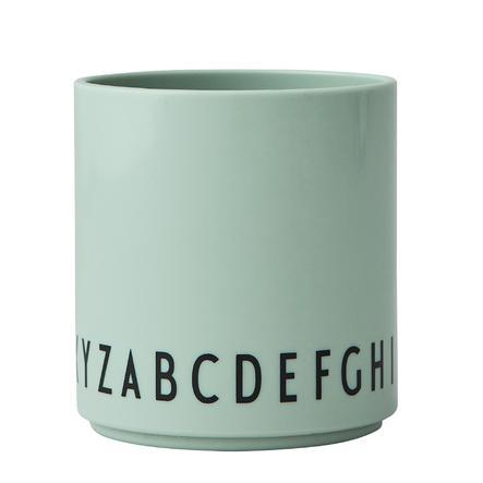 Design Letters EAT & LEARN Kinder Trinkglas, Tritan, grün, 175 ml