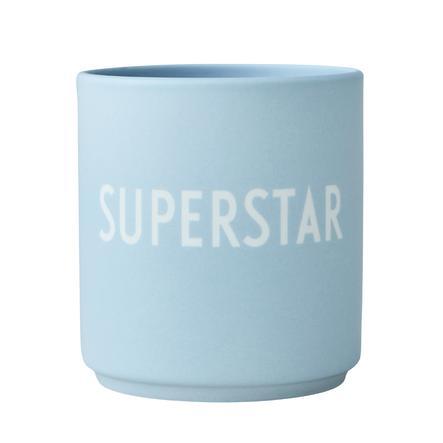 Design Letters Favorite Cups, Porzellanbecher mit Lasergravur, blau, 250 ml