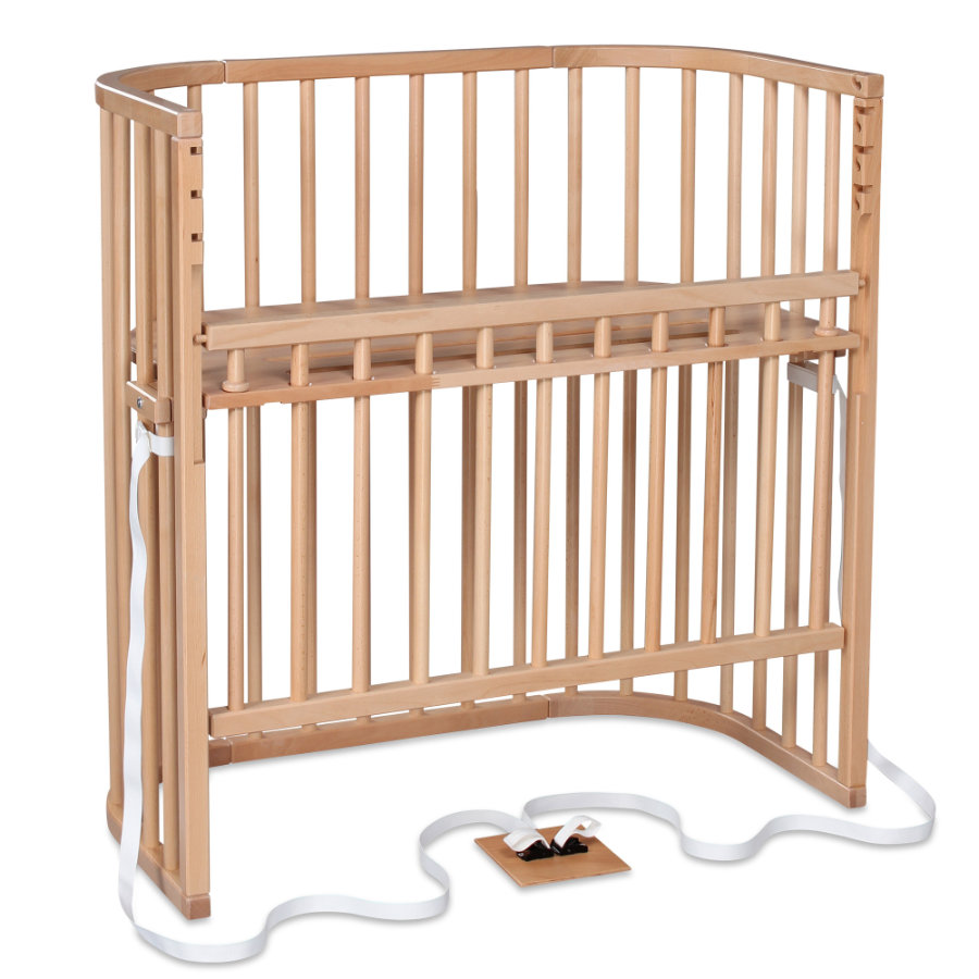 babybay Sideseng/Sengekant boxspring comfort natur