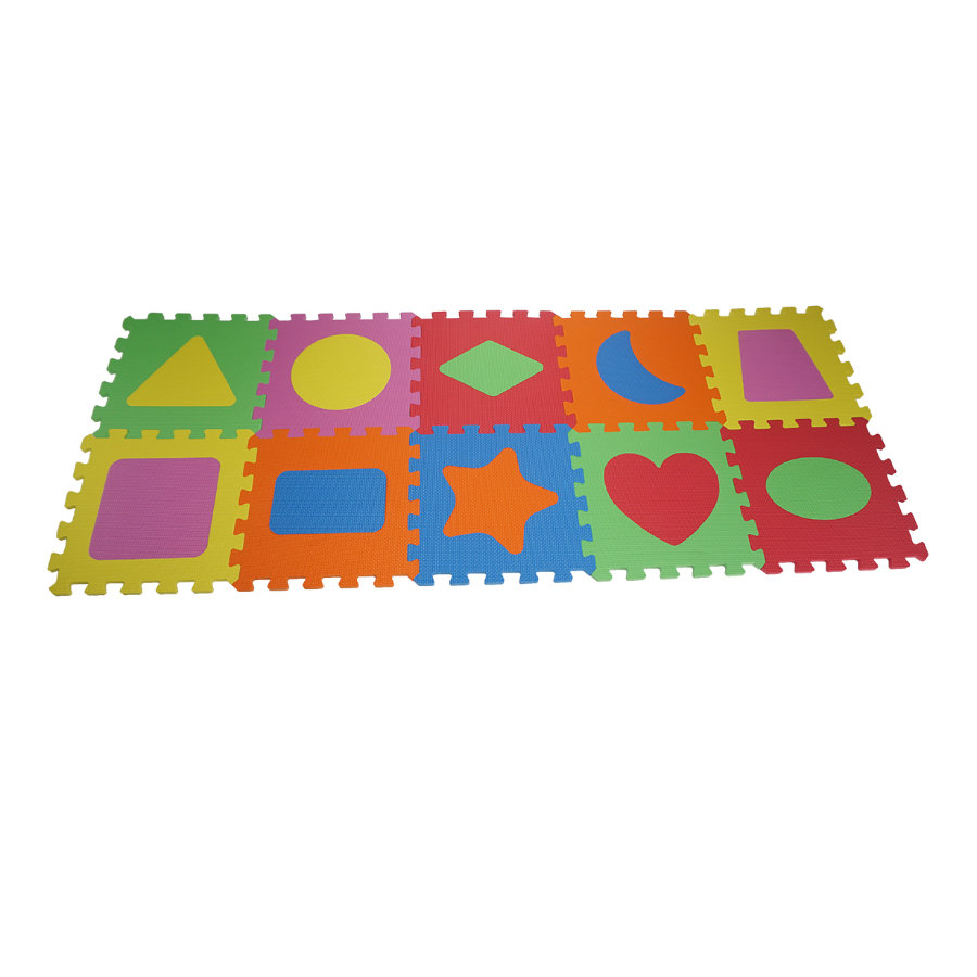 knorr® legetøj legemåtter Geo Shapes 10 stk.