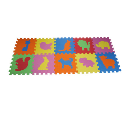 knorr® toys Puzzlematten Tiere 10 tlg.