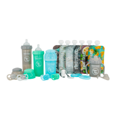 TWISTSHAKE Starter-Set Baby Bottle Bundle in blau, grün und grau
