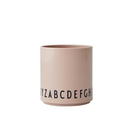 Design Letters EAT & LEARN Kinder Trinkglas, Tritan, nude, 175 ml