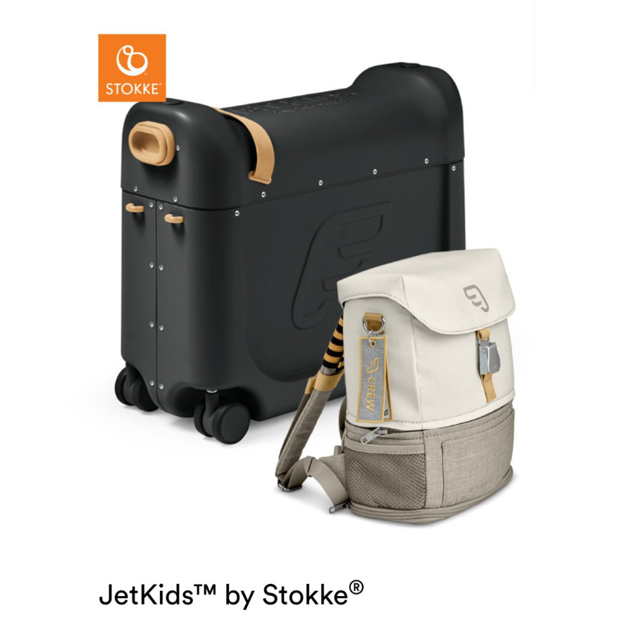 JETKIDS™ BY STOKKE® Aufsitzkoffer BedBox™ mit Crew BackPack™ Black