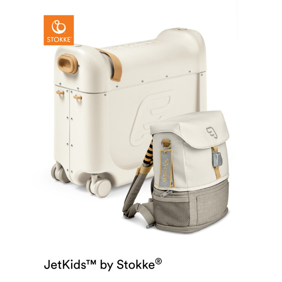 JETKIDS™ BY STOKKE® Aufsitzkoffer BedBox™ mit Crew BackPack™ White