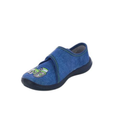 Pantofle Beck traktor modrá