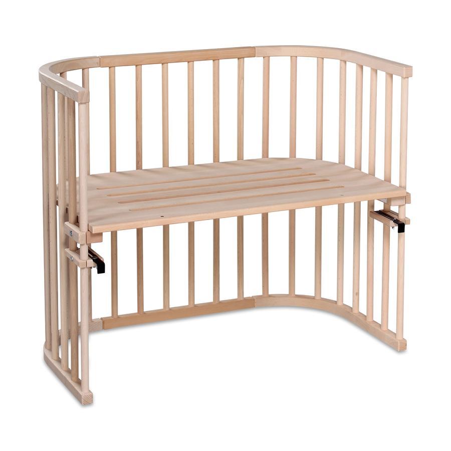 babybay Maxi Łóżeczko dostawne EKO surowe drewno bukowe