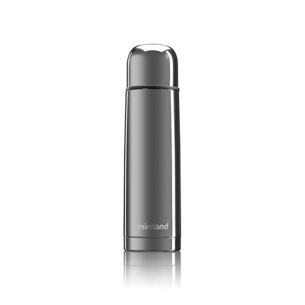 miniland Thermoskanne Thermy deluxe silver mit Chromeffekt 500 ml