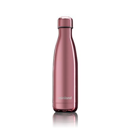 miniland Thermosflasche bottle deluxe rose mit Chromeffekt 500 ml