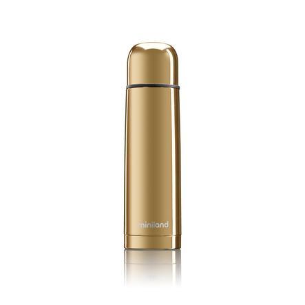 miniland Thermoskanne Thermy deluxe gold mit Chromeffekt 500 ml