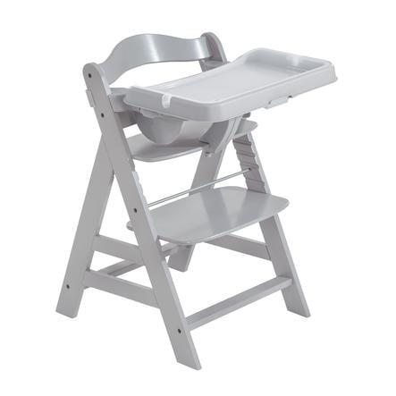 hauck Hochstuhl Alpha Plus Grey inkl. Esstisch Tray Grey