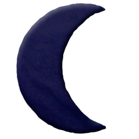 THERALINE Kersenpitkussen Design: maan, groot 29 x 13 cm