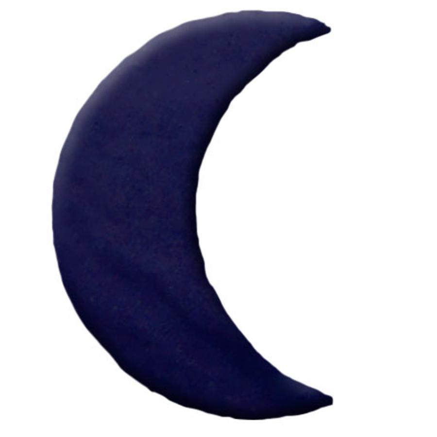 THERALINE Polštářek z třešňových pecek design:  Měsíc velký 29 x 13 cm