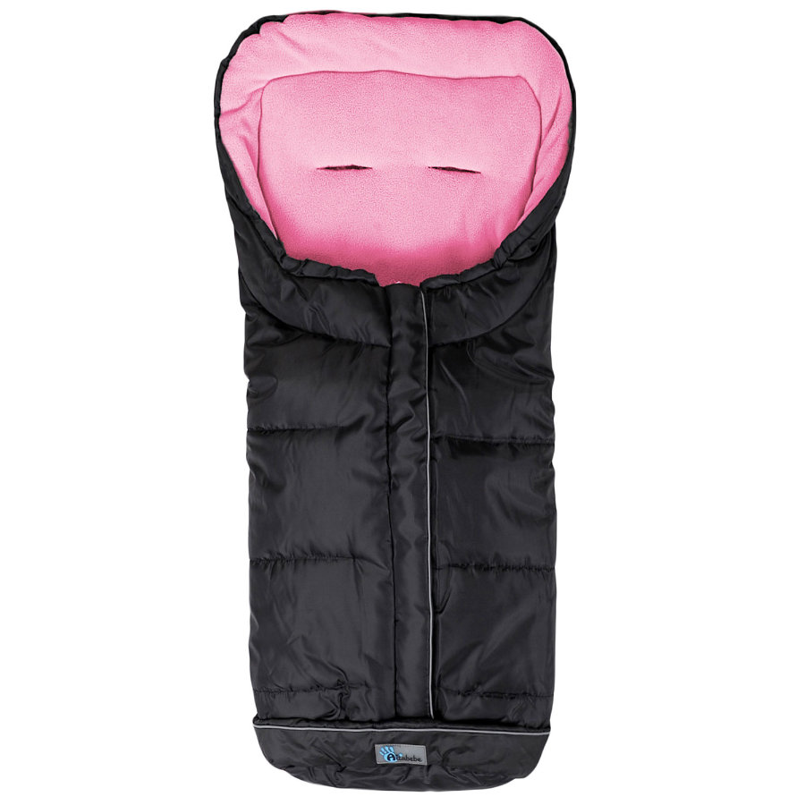 ALTA BEBE Winter Footmuff Standard with ABS (2203XL) black/rose - Black Emy, Collection 2013/2014