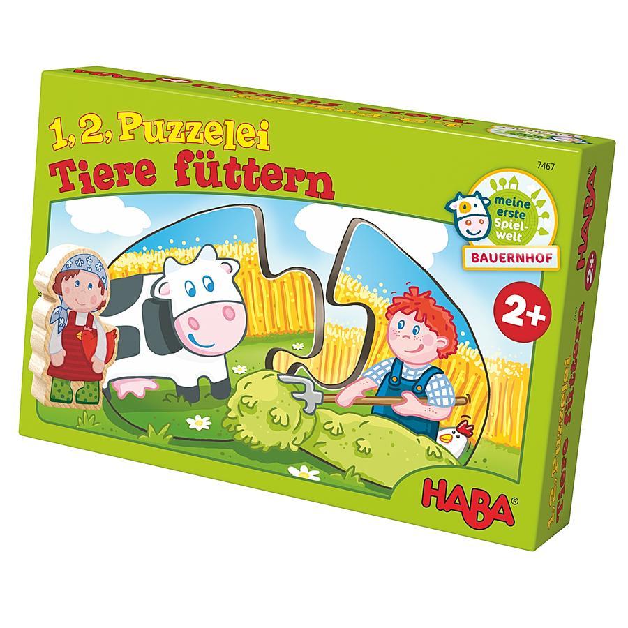 HABA 1, 2, puzzle-moi - Nourrir les animaux 7467