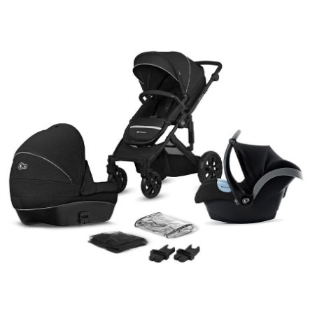 Kinderkraft Barnvagn Prime Lite 3 i 1 Deep Black