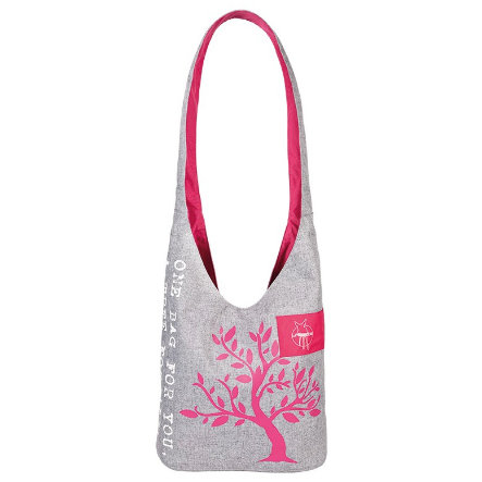 LÄSSIG Green Label Shopper Bag black melange-magenta