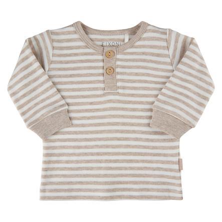 FIXONI Langarm Shirt Sand Melnage