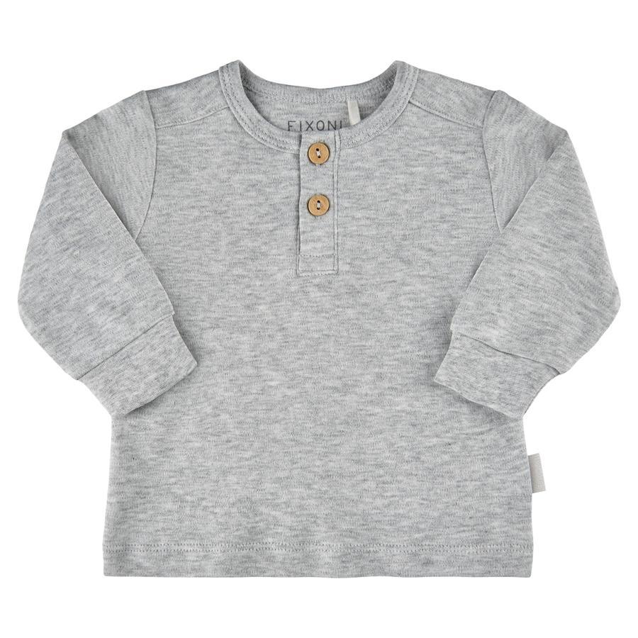 FIXONI Langarm Shirt Grey Melnage