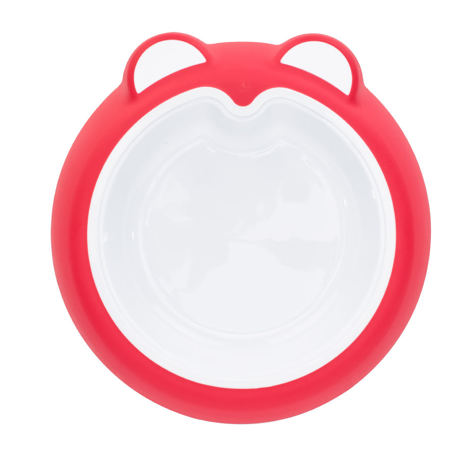 Badabulle Rutschfester Teller pink