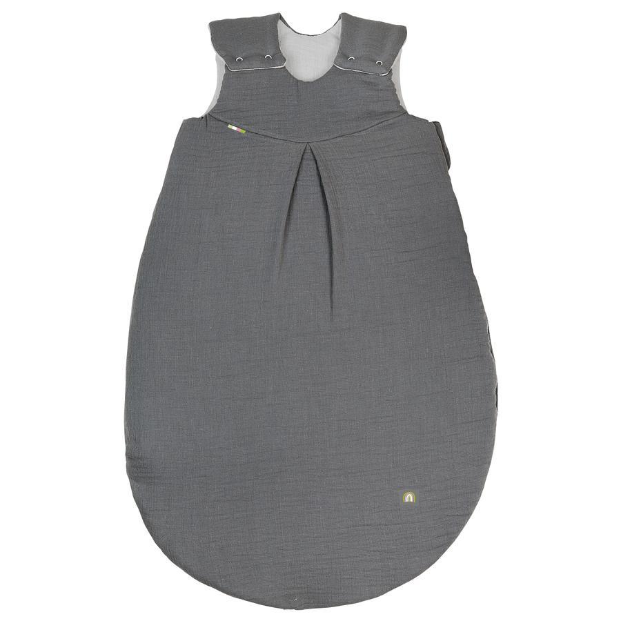 odenwälder Musselin Schlafsack wattiert grey