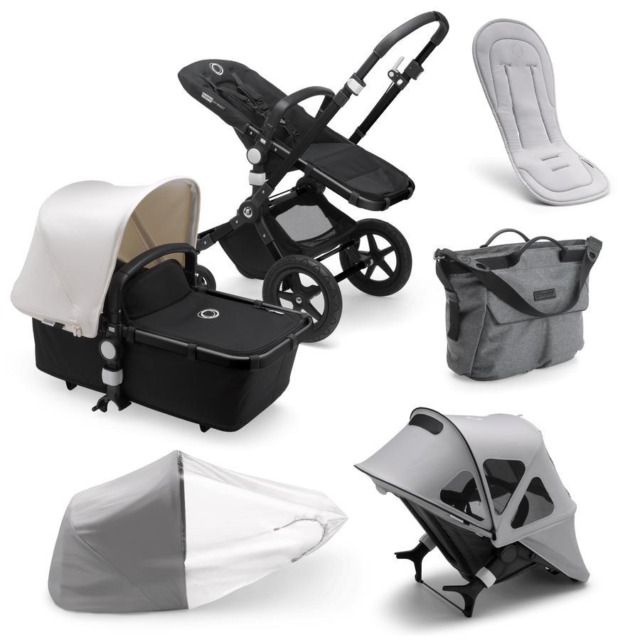 bugaboo Combi Stroller Cameleon 3 Plus Complete Black /Grey Melange Summer Set Grey Melange
