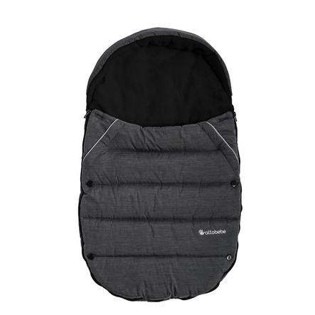 Altabebe Saco de invierno para el asiento del coche y el portabebés gris oscuro-negro