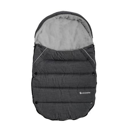 Altabebe Zimní fusak na nohy pro autosedačku a dětské nosítko Dark Grey-Light Grey