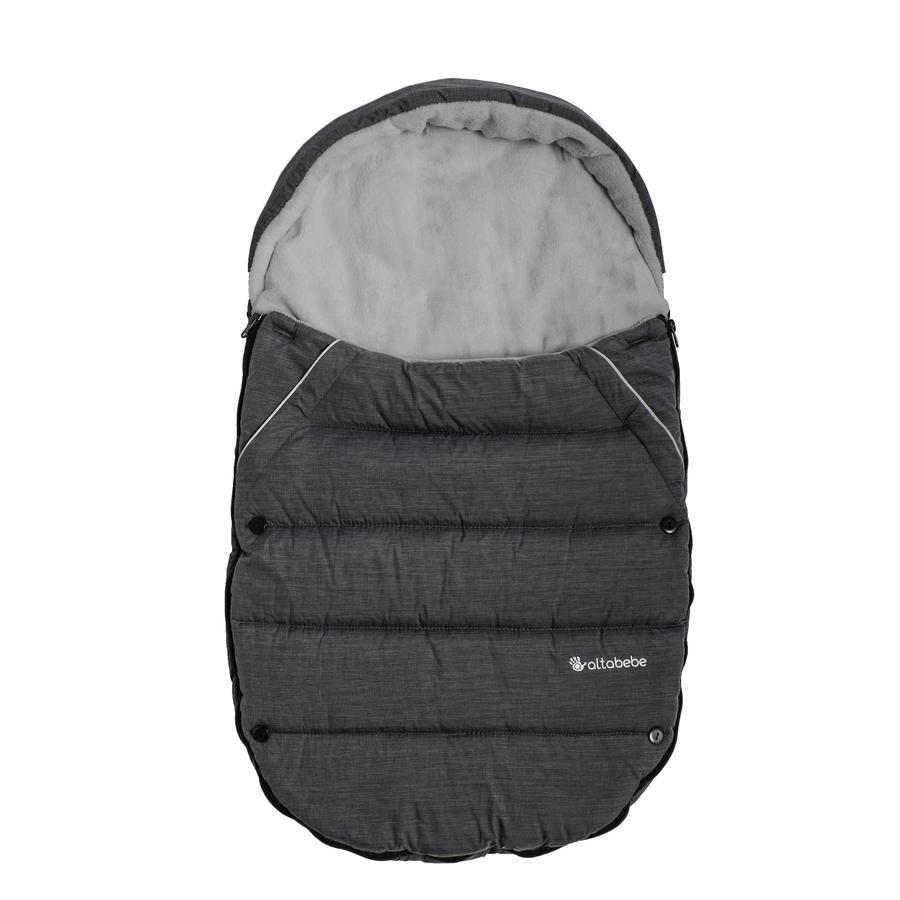 Altabebe Saco de invierno para el asiento del coche y el portabebés Gris oscuro-Gris claro