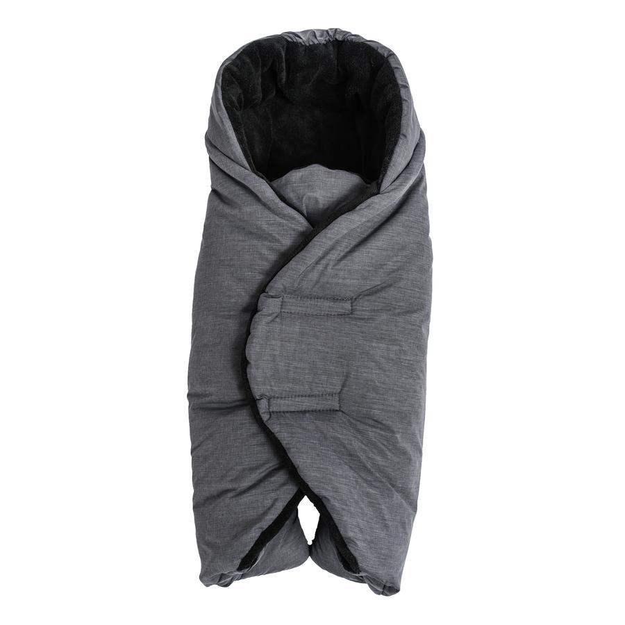 Altabebe Winterfußsack für Babyschale und Kindersitz Dunkelgrau-Schwarz 74 x 34 cm