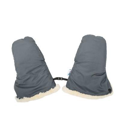 Altabebe Lammfell Handwärmer für Kinderwagen Nordkap Dunkelgrau