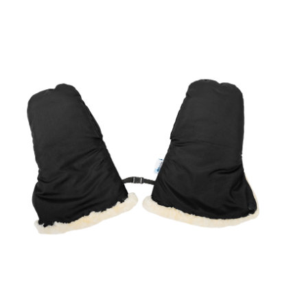 Altabebe Lammfell Handwärmer für Kinderwagen Nordkap Schwarz