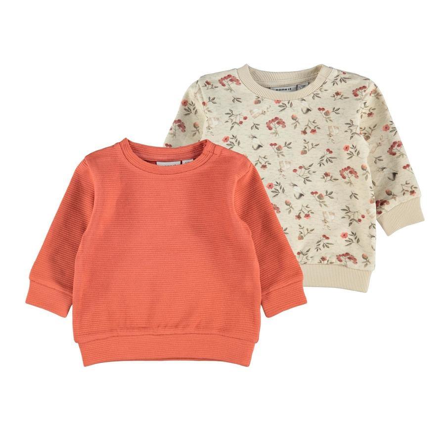 name it Sweatshirt 2-pack Nbfnikoline Peyote Melange