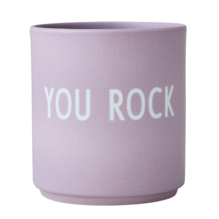 Design Letters Favorite cups, Porzellanbecher, YOUROCK, lavendel, 250 ml