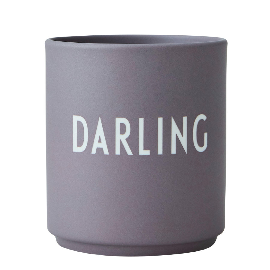 Design Letters Favorite Cups, Porzellanbecher, grau, 250 ml