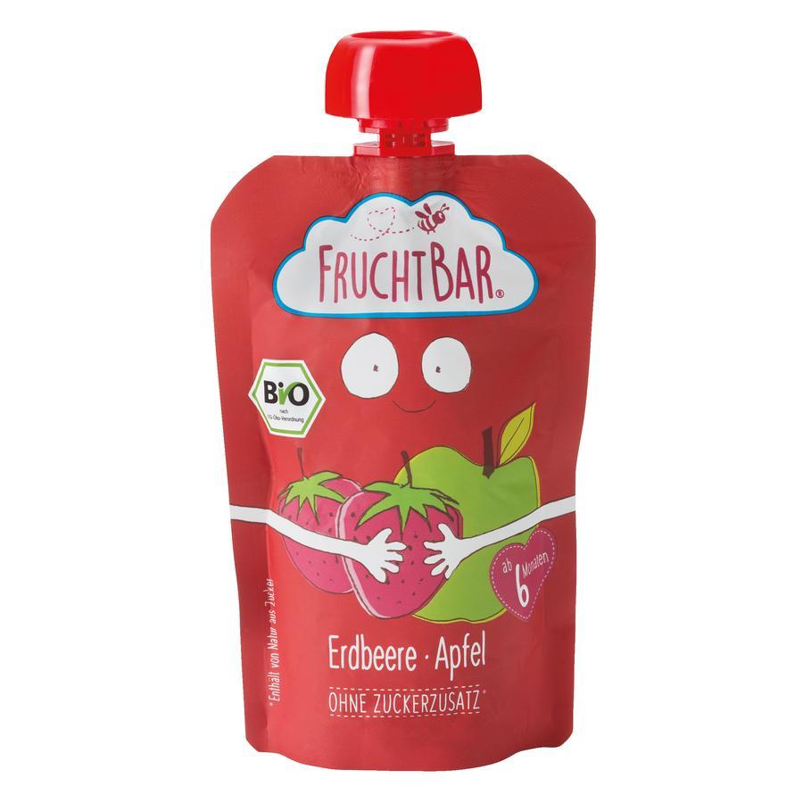 FRUCHTBAR® Bio-Püree Erdbeere-Apfel 100g ab dem 6.Monat