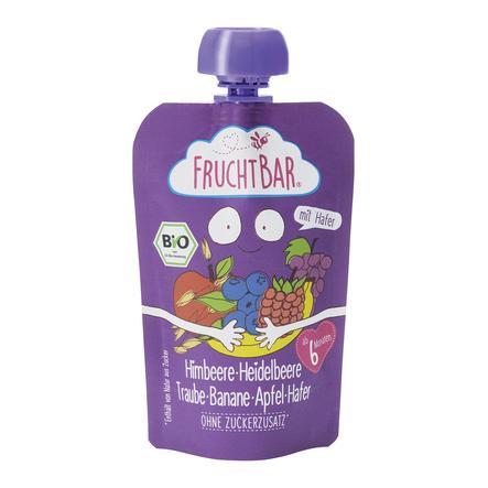 FRUCHTBAR® Bio-Pürees Himbeere-Heidelbeere-Traube-Banane-Apfel-Hafer 100 g ab dem 6. Monat