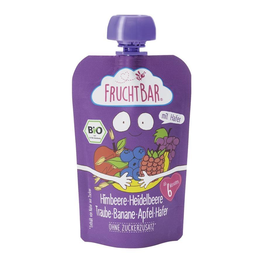 FRUCHTBAR® Bio-Püree Himbeere-Heidelbeere-Traube-Banane-Apfel-Hafer 100g ab dem 6.Monat