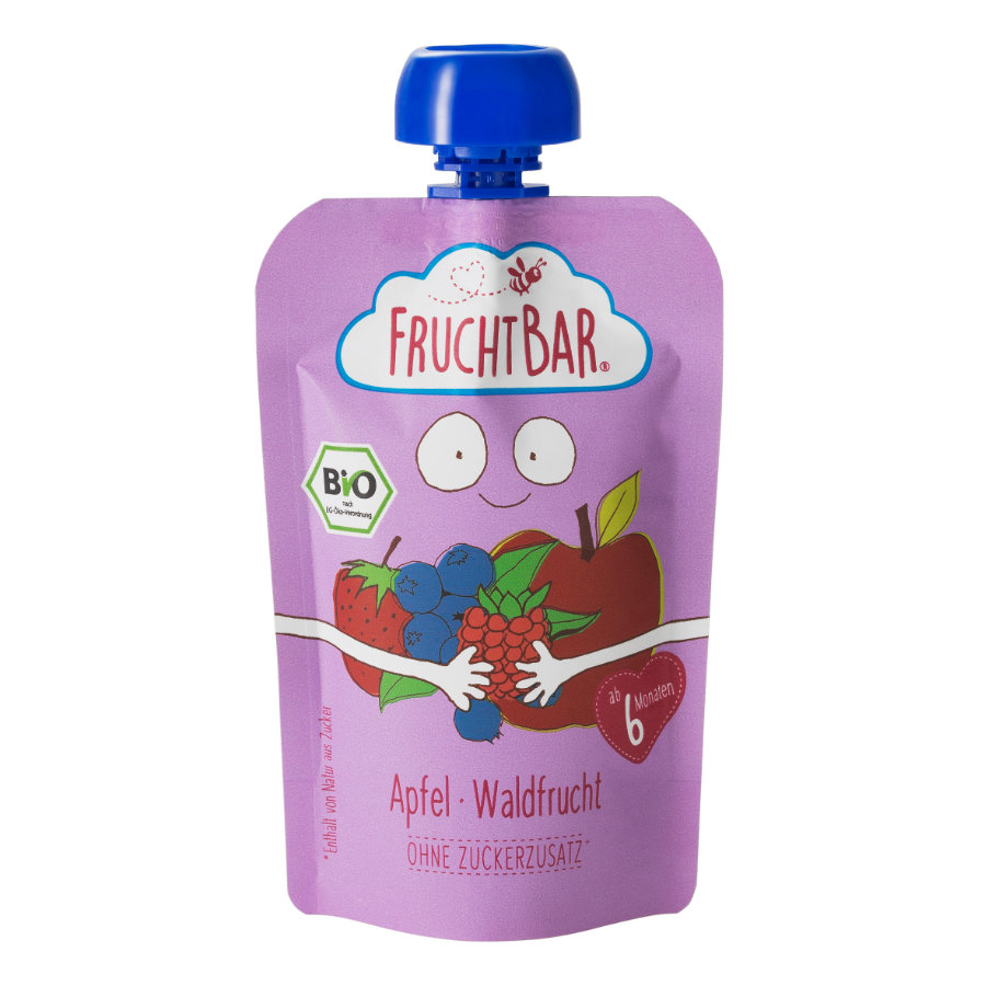 FRUCHTBAR® Bio-Püree Apfel-Waldfrucht ab dem 6. Monat 100g